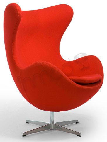 The Egg Chair was introduced in 1958 by designer Arne Jacobsen.